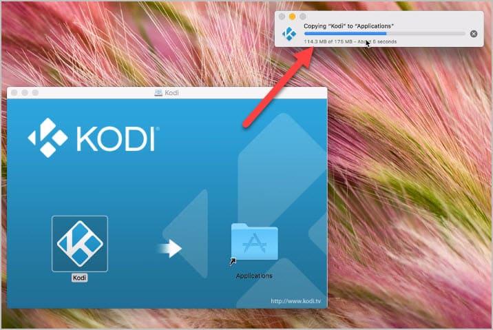 Copiar Kodi a aplicaciones