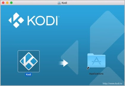 Arrastra Kodi a la carpeta Aplicaciones