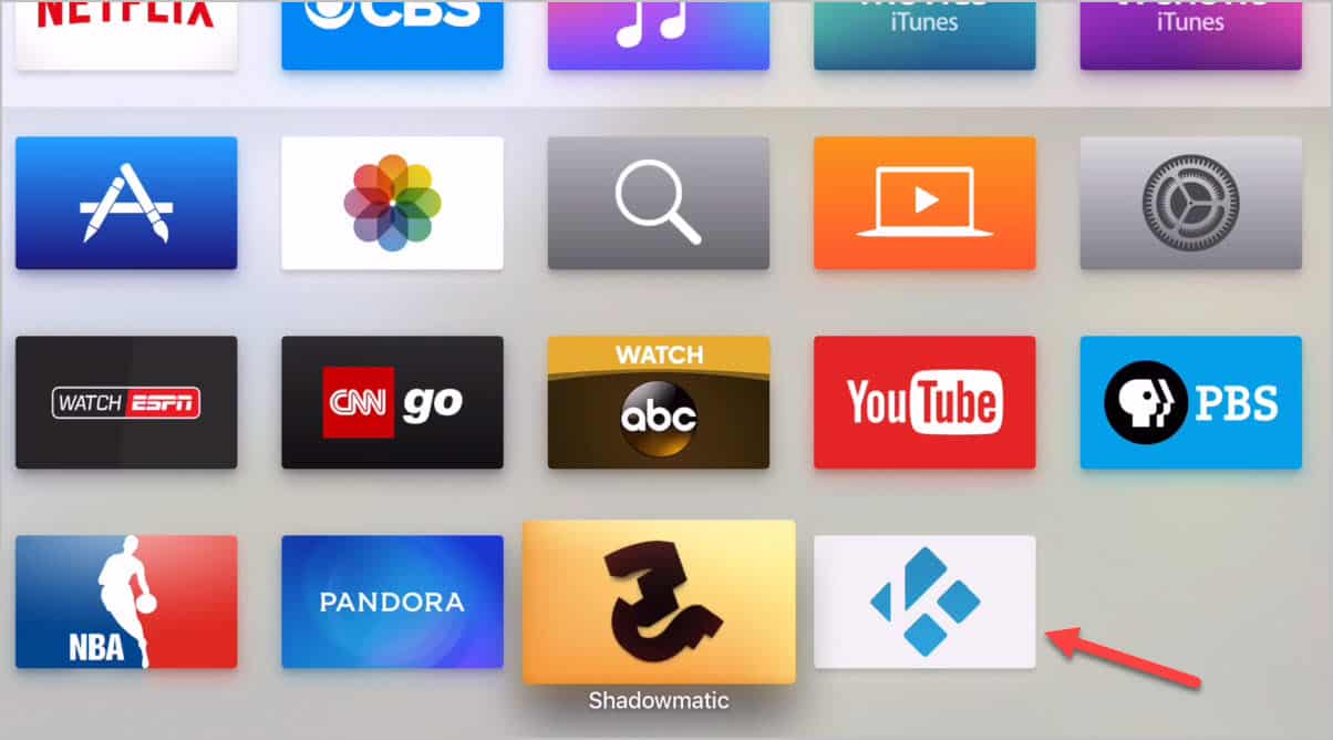 Kodi App Installed