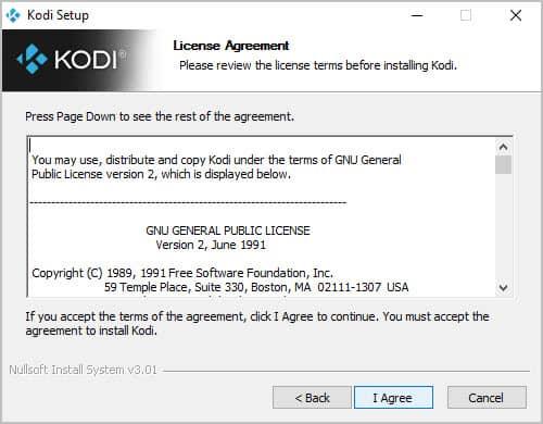 Kodi-Lizenzvereinbarung