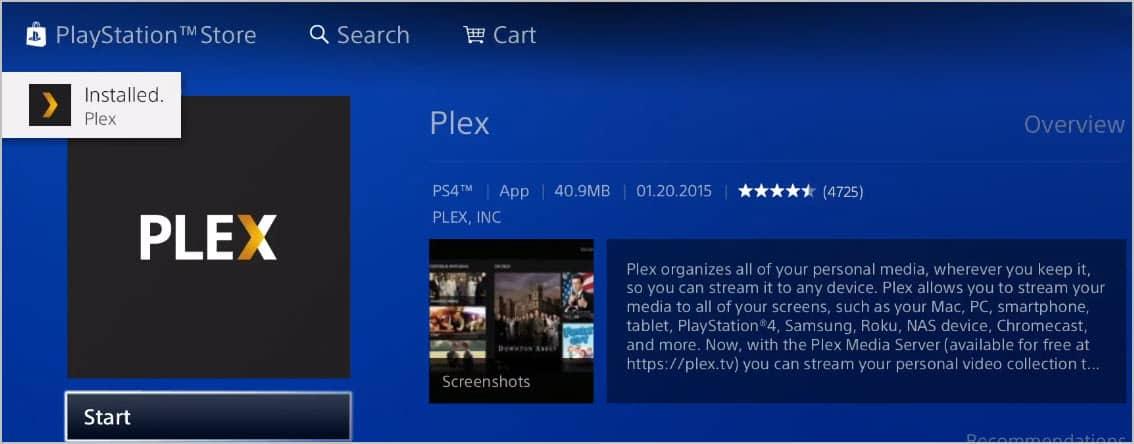 Plex Installed