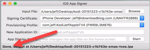 iOS App Signer Done