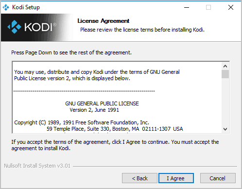 Agree on User License Agreement