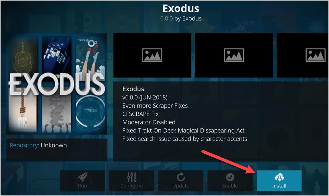 Install Exodus