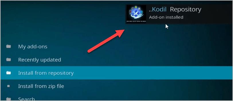 Kodil installed